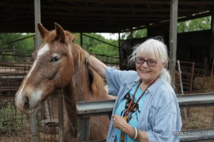 AIHR President Nanci Falley with Mano, official spokeshorse for AIHR.